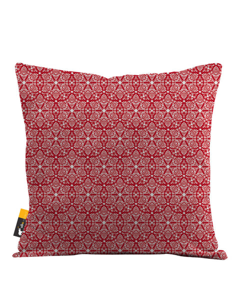 Ruby Damask Throw Pillow