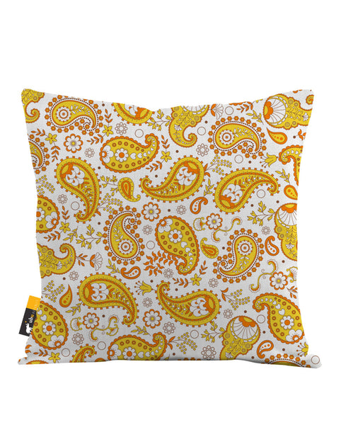 Pumpkin Paisley Throw Pillow