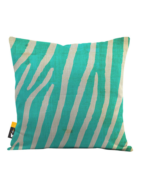 Indigo Zebra Throw Pillow