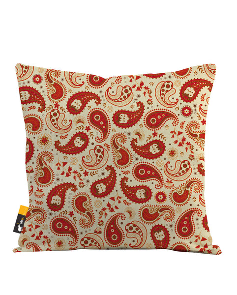 Chili Paisley Throw Pillow