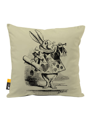 White Rabbit Faux Suede Throw Pillow