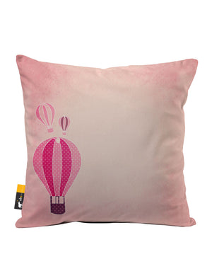 Bubble Gum Balloon Faux Suede Throw Pillow