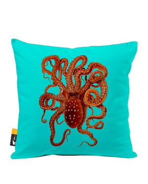 Killer Octopus Faux Suede Throw Pillow