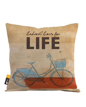 Behind Bars For Life Throw Pillow