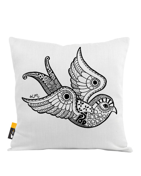 Inked Baby Swallow Throw Pillow