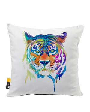 Tiger Enchantment Faux Suede Throw Pillow