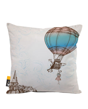 Up Up & Away Faux Suede Throw Pillow
