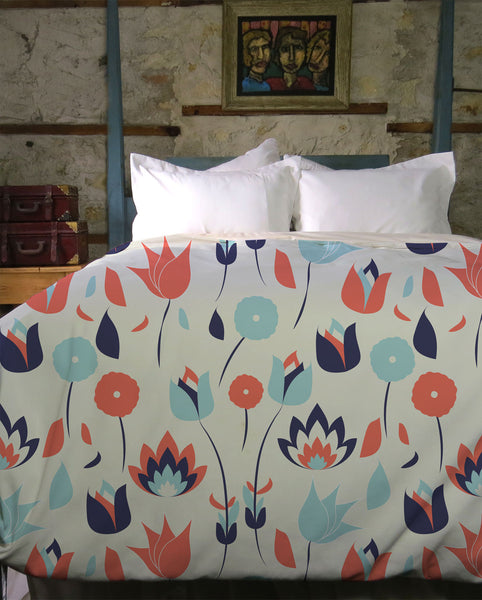 Vintage Cocktail Duvet Cover