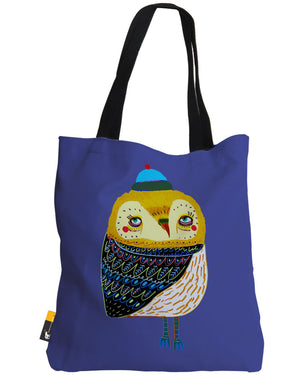 Winter's Eve Owl Tote