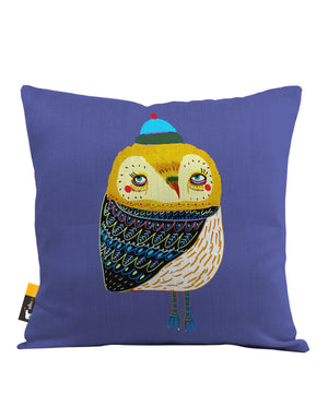 Winter's Eve Owl Throw Pillow