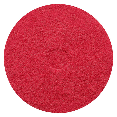 "Sanitaire 62065 17"" Red Buffing Pads, 5/cs"