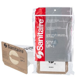 Sanitaire 62100 UP-1 Premium Paper Bag, 5pk