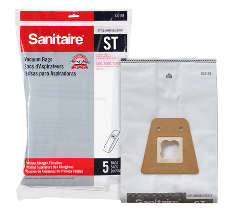 Sanitaire 63213B ST Premium Synthetic Bag, 5pk