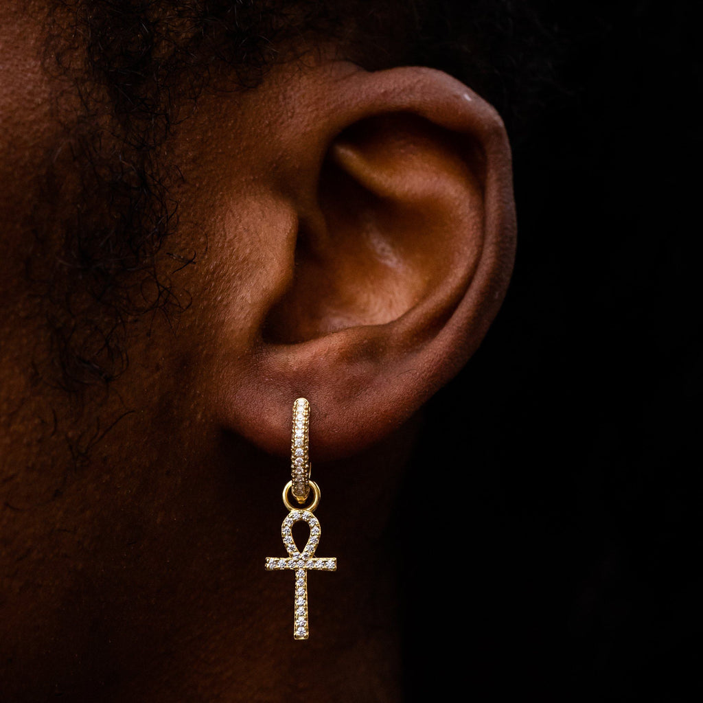 Earrings - Ankh Earring In Yellow Gold