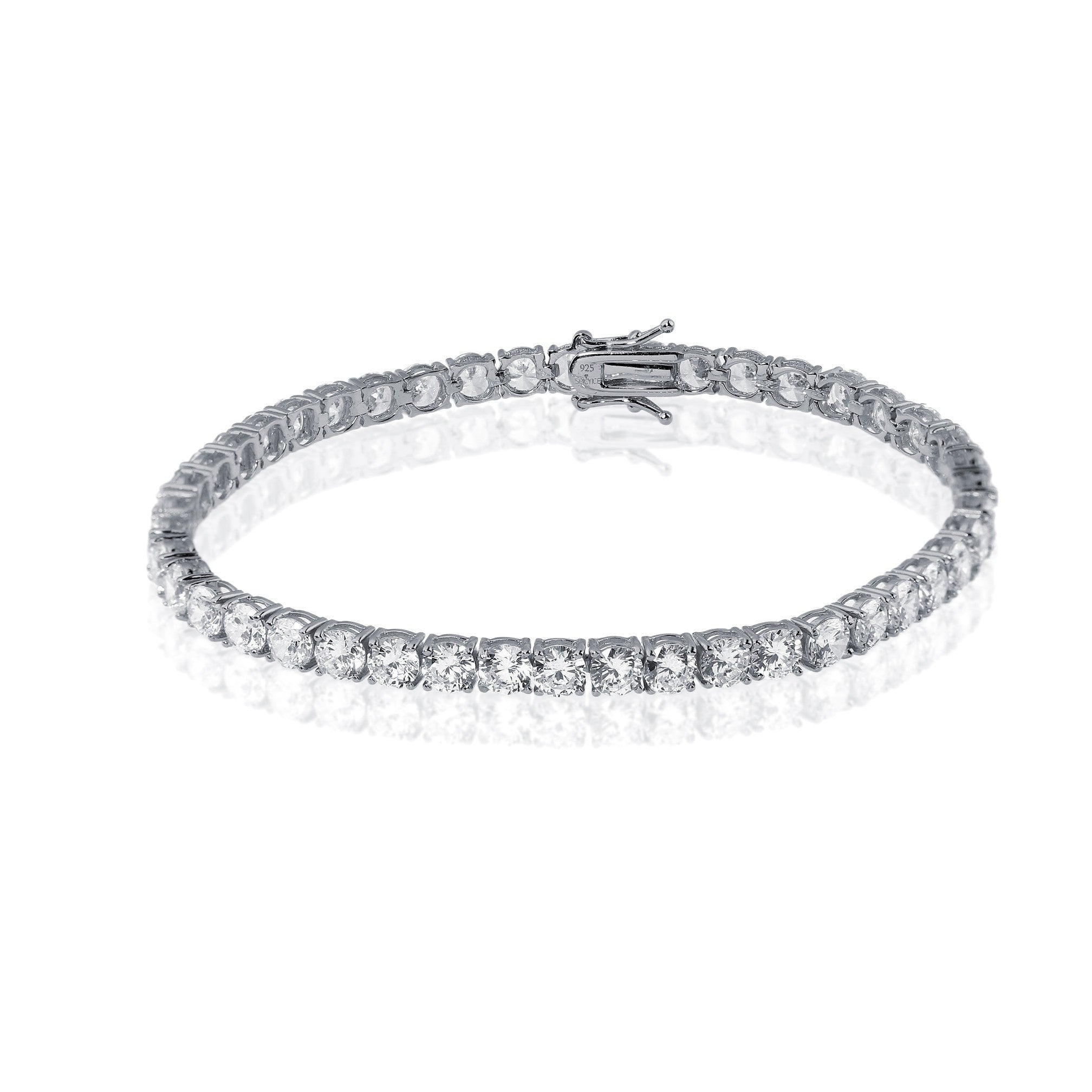 Bracelet - 5mm Single Row Tennis Bracelet In Platinum Rhodium