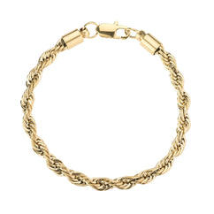 Bracelet - 6mm Gold Rope Bracelet