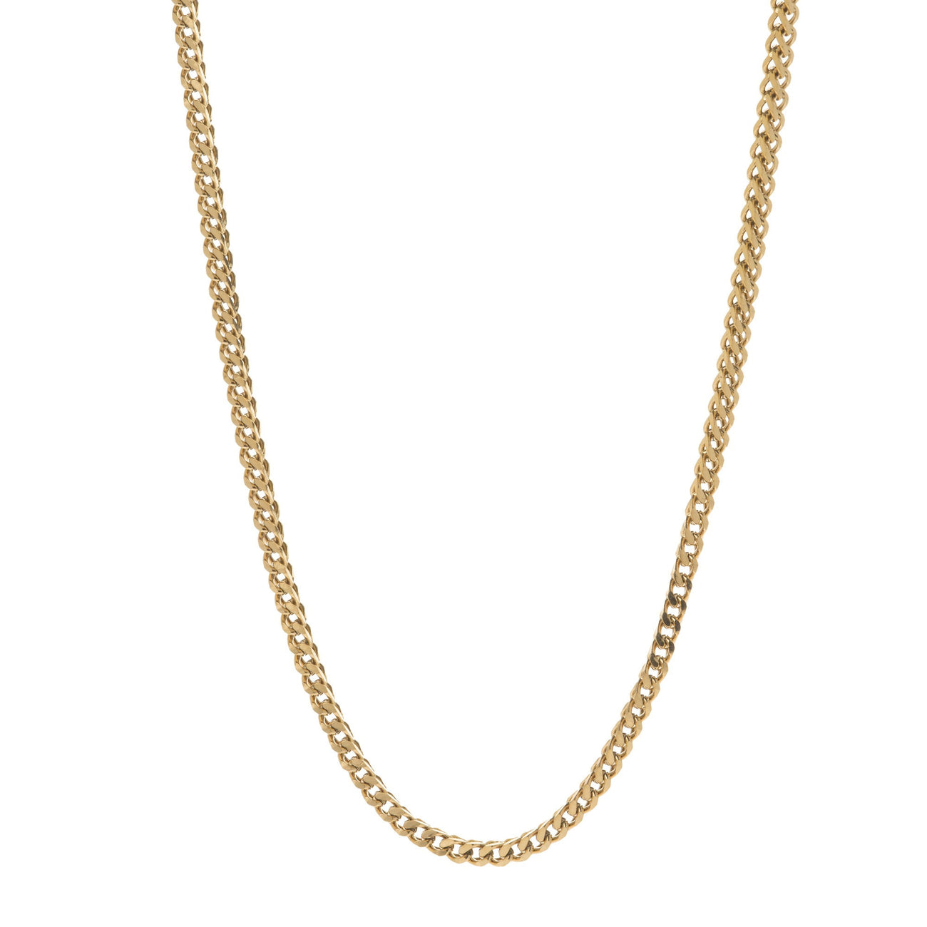 2.5mm Gold Franco Box Chain , Chains, SpicyIce - 1