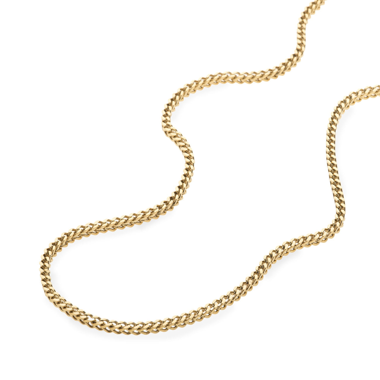 2.5mm Gold Franco Box Chain , Chains, SpicyIce - 2