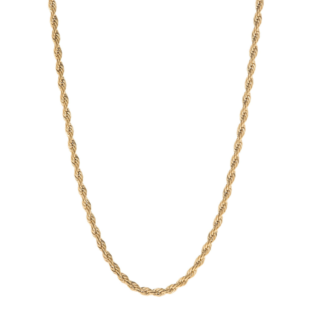 3mm Gold Rope Dookie Chain , Chains, SpicyIce - 1