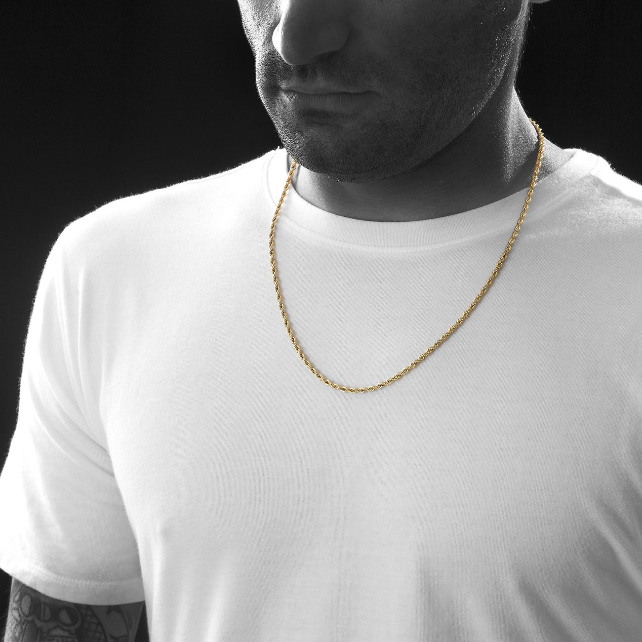 3mm Gold Rope Dookie Chain , Chains, SpicyIce - 3