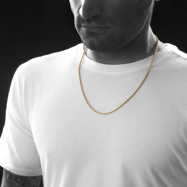 3mm Gold Rope Chain Spicyice