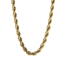 6mm Gold Rope Dookie Chain , Chains, SpicyIce - 1