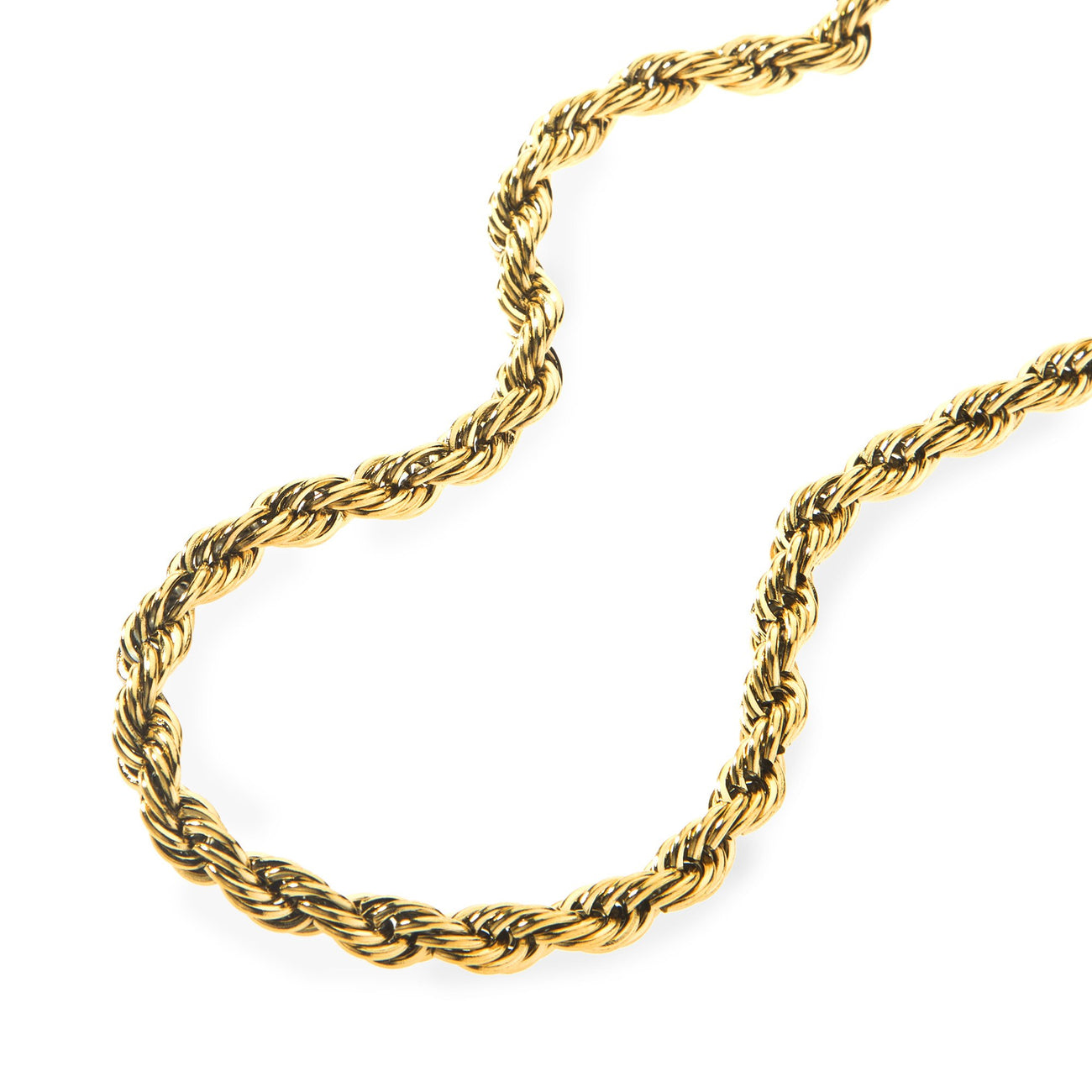 6mm Gold Rope Dookie Chain , Chains, SpicyIce - 2