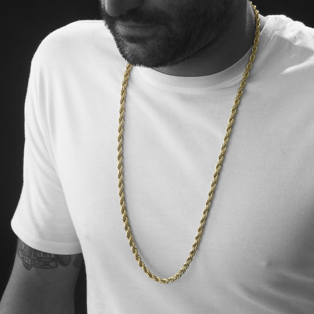 6mm Gold Rope Dookie Chain , Chains, SpicyIce - 3