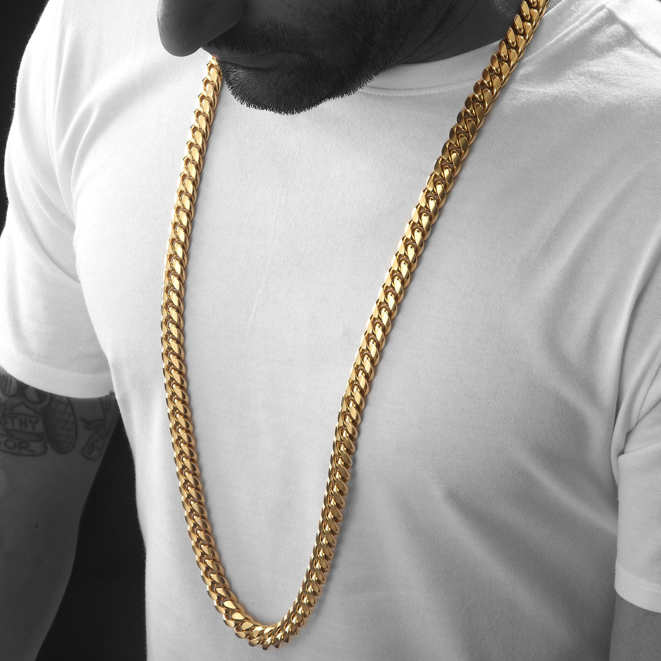 Heavy 12mm Miami Cuban Link Chain , Chains, SpicyIce - 1