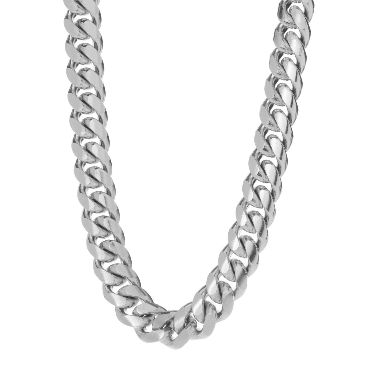 9e5702765ed Heavy Stainless Steel Miami Cuban Link Chain