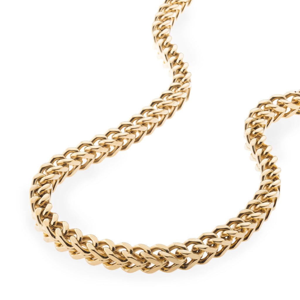 Mens 6mm Gold Franco Box Chain , Chains, SpicyIce - 2