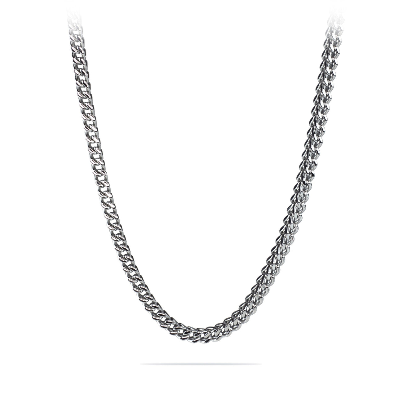 Mens 6mm Silver Stainless Steel Franco Cuban Box Chain Link Necklace , Chains, SpicyIce - 1