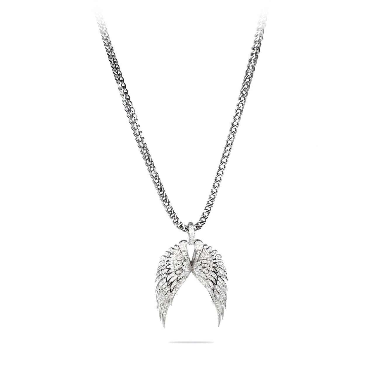 diamonds pendant silver wings angel wing with sterling in