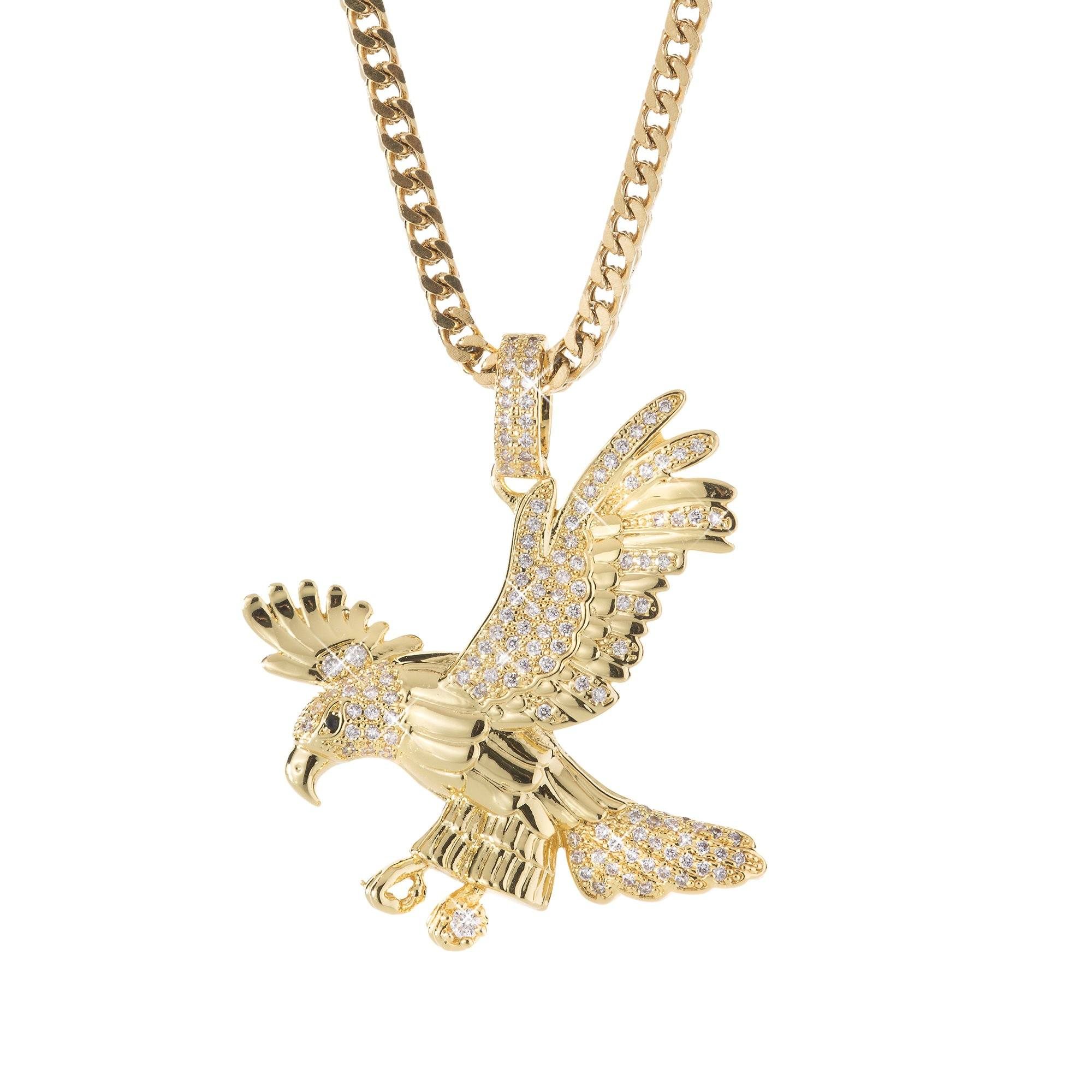 Gold eagle pendant spicyice necklace gold eagle pendant aloadofball Images