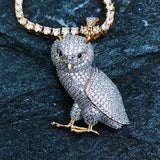 Necklace - Iced Out Owl Pendant