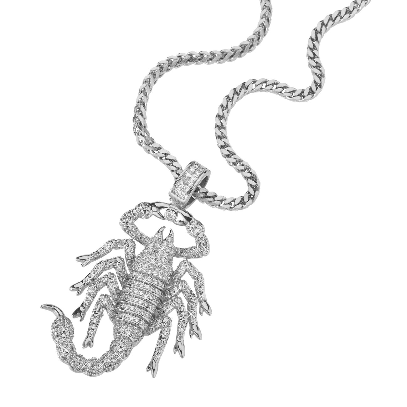 Necklace - Rhodium Scorpion King Pendant