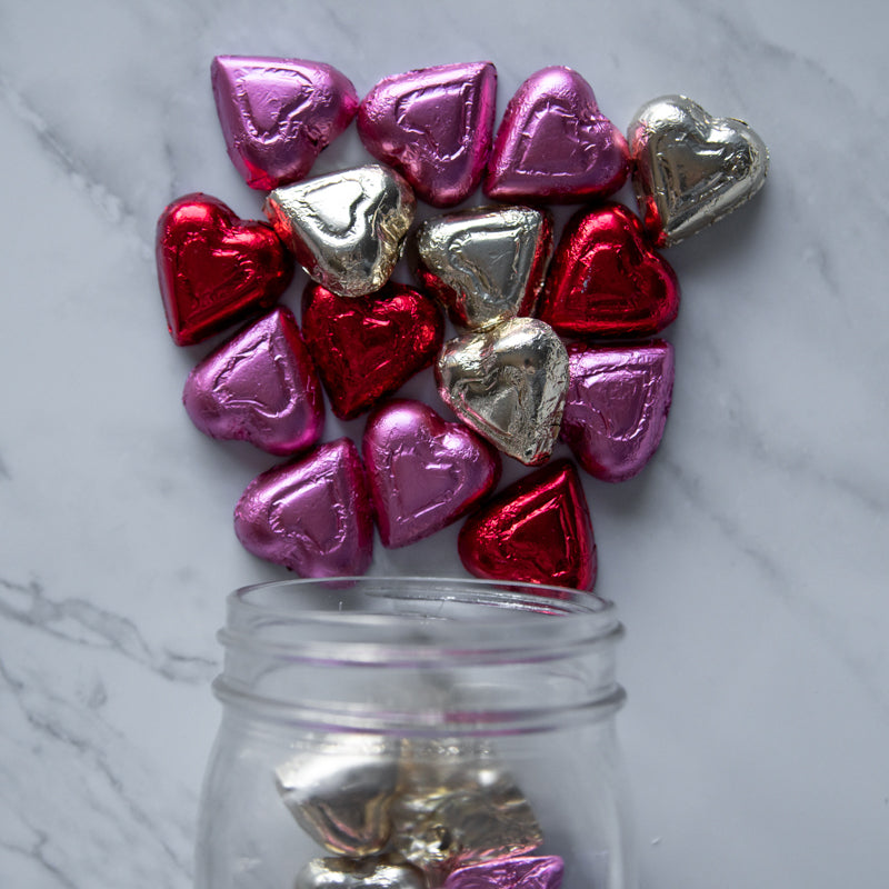 foiled milk chocolate hearts  mix