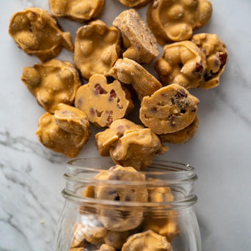 maple coated peanut cluster