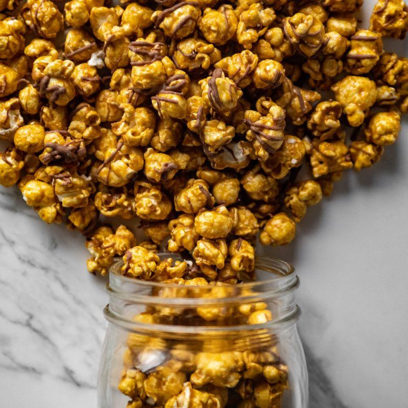 Chocolate Drizzle Caramel Corn