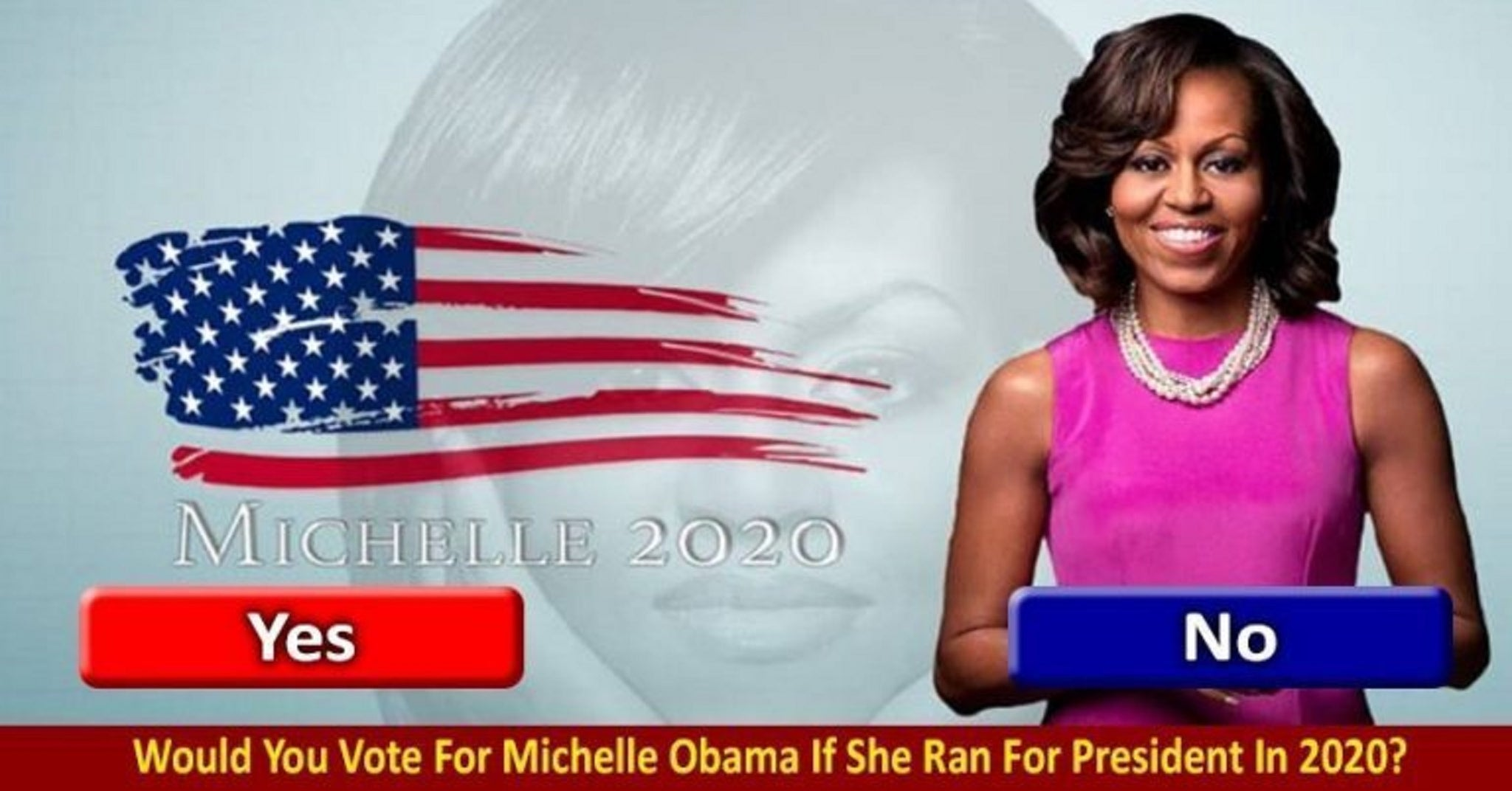 WOULD YOU VOTE FOR MICHELLE OBAMA IF SHE RAN FOR PRESIDENT IN 2020?