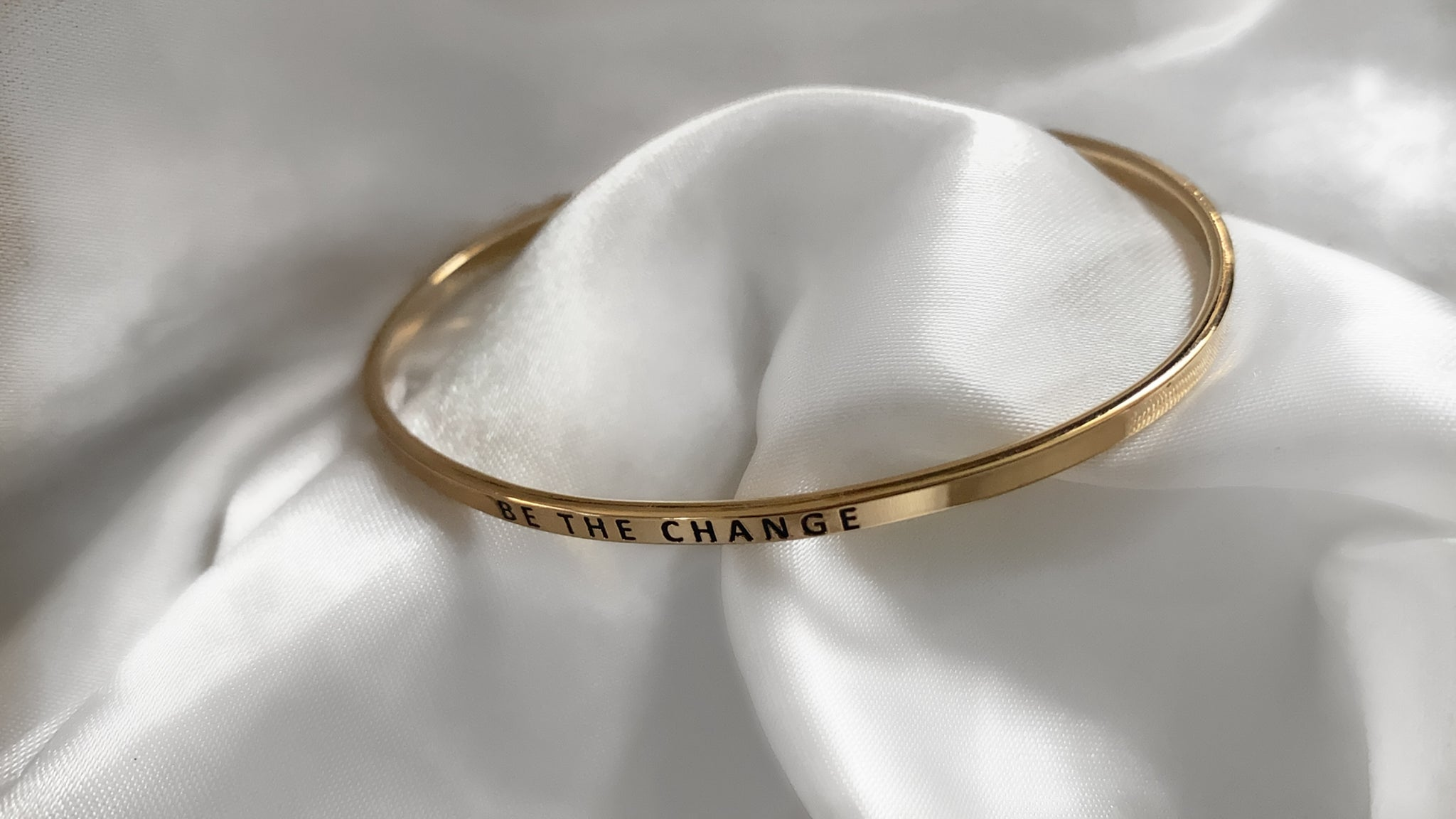 Be The Change Adjustable Bracelet