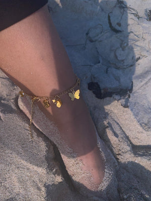 Handmade 14k Gold Filled Elephant Anklet