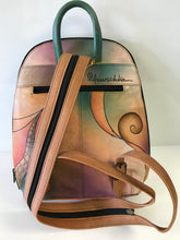 Load image into Gallery viewer, Anuschka Hand Painted Leather Classic Backpack with Convertible Sling Shoulder Strap