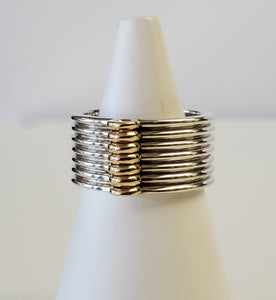 Sterling Silver and 10k Yellow Gold Ring