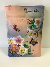 Load image into Gallery viewer, Anuschka Hand Painted Leather Triple Compartment Crossbody Organizer