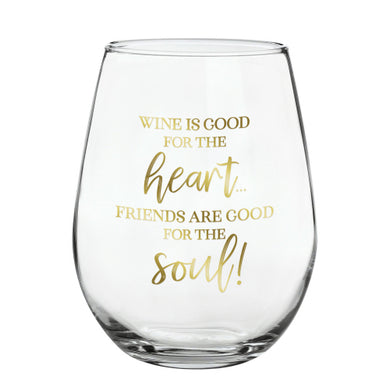 Friends Wine Glass