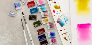 New 2020 colors WHITE NIGHTS watercolors pans and tubes