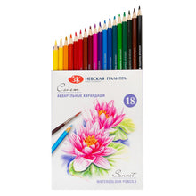 "Load image into Gallery viewer, Set of aquarelle pencils ""Sonnet"" 18 colors"
