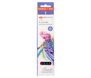 "Set of aquarelle pencils ""Sonnet"" 6 colors by Nevskaya Palitra"