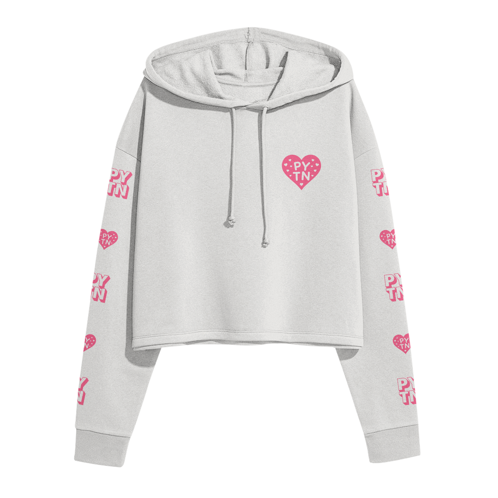 Love Letter To Myself Bone Cropped Hoodie